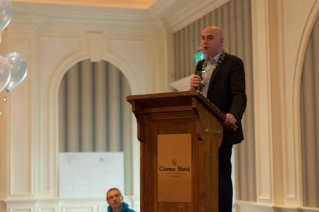 Donegal Mayor, Cllr John Campbell speaking at the DYC Agenda Day.