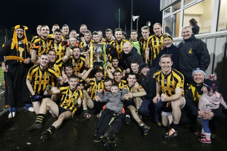 St Eunan's celebrate after winning Sunday's county final against Glenswilly. Photo: Declan Doherty