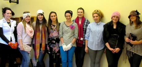 Zara with participants in the recent workshop in Ramelton.