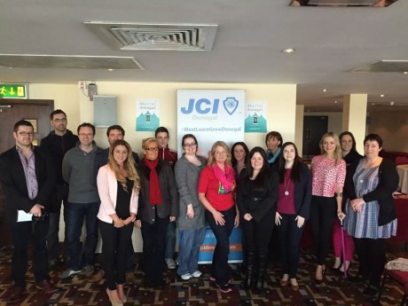 members of JCI Donegal at a recent meeting.