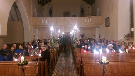 Taking part in Letterkenny's first ecumenical Carol trail.
