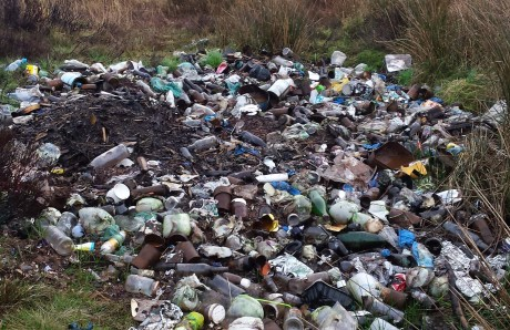 The illegal dump at Trusk Lough.