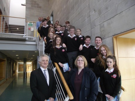 Students from Rosses Community School, Dungloe, at LYIT.