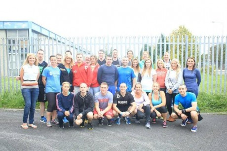 Nikki with members of CrossFit Letterkenny.