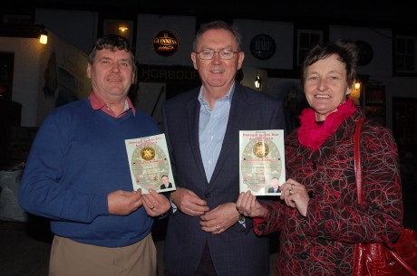 RTE Broadcaster Sean O'Rourke with Sports Star Awards Chairperson Neil Martin and Secretary May Logue.
