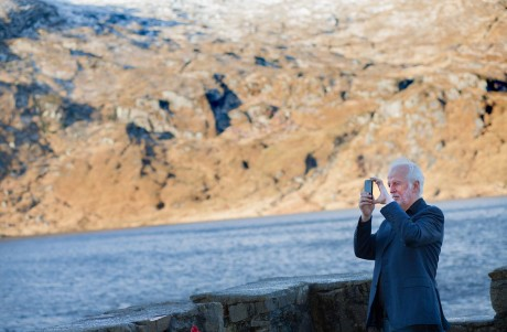 Sean McGinley taking in the scenic beauty of Glenveagh National Park at the launch on Friday last of the Donegal Film Office website.
