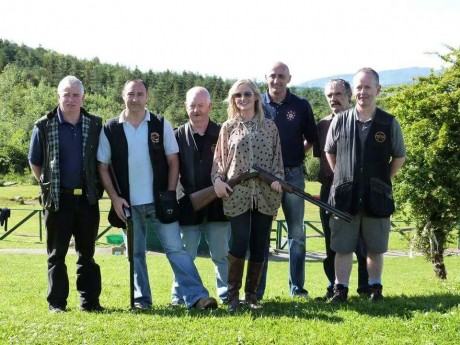 Nikki with members of Buncrana Gun Club.
