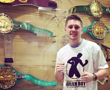 Jason Quigley at Golden Boy Promotions headquarters