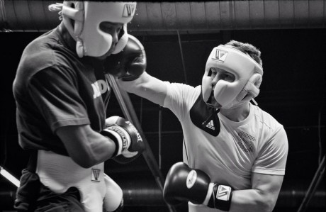 Jason Quigley was back sparring this week