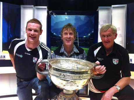 Pat Boyle - pictured right with Odhrán Gallagher and Hector during the 2012 quiz on TG4 - who will serve as Na Rossa secretary for the 33rd year in a row.