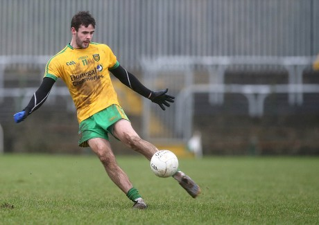 Donegal's Odhrán MacNiallais in action against Queen's. Photo: Declan Doherty