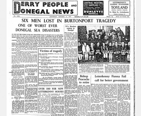 How the tragedy was reported in January 1975.