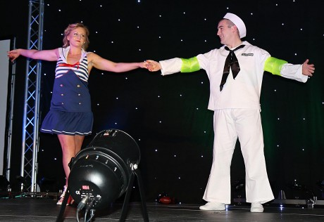 The winners of Strictly Come Dancing in Dungloe at the weekend, Kelly O'Donnell and Stephen Doogan.