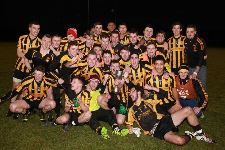 St Eunan's celebrate their win in the U-21 final over Kilcar. Photo: Brian McDaid