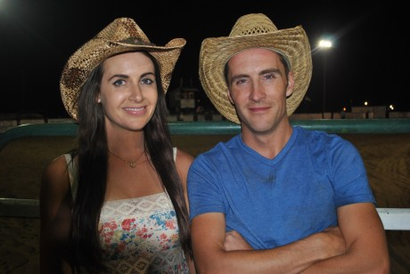 Mairéad and Gavin try themselves as cowboys.