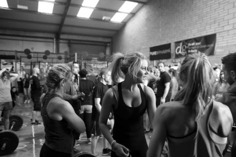 Aoibheann at a CrossFit competition.