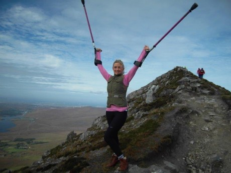 Nikki on top of Errigal.