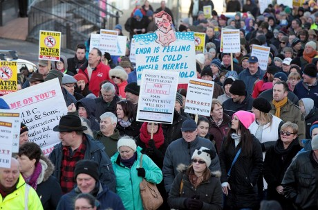 Thousands were on the march in Letterkenny on Saturday.