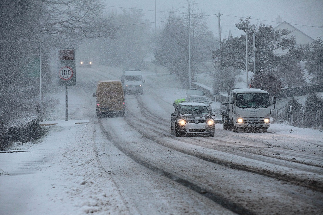 Snow and ice weather warning coming into force