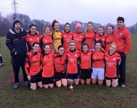 Roisin McCafferty (third from left, front row) with her Coventry University team-mates.