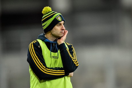Donegal manager Rory Gallagher - complete with his bobble hat!