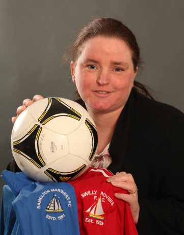 Chanel Blaney, Ramelton who is secretary for both Ramelton Mariners FC and Swilly Rovers FC Photo: Brian McDaid