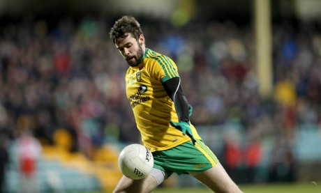 Donegal's Odhrán MacNiallais on his way to scoring his second half goal.