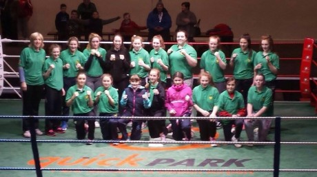 The Donegal Female Development Squad with manager Sharon Scanlon