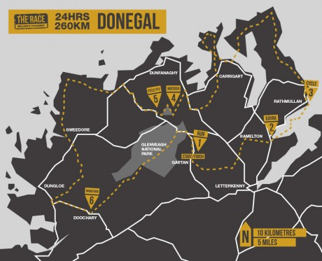 the-race-adventure-donegal-map