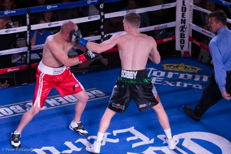 Jason Quigley in action against Lanny Dardar