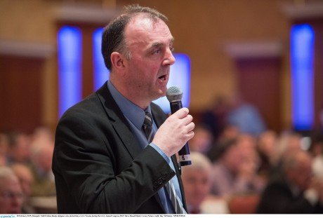 Donegal's Niall Erskine thanks delegates who elected him a GAA Trustee during the GAA Annual Congress