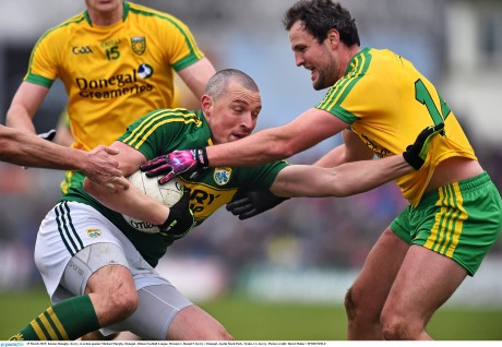 Kieran Donaghy, Kerry, in action against Michael Murphy, Donegal.