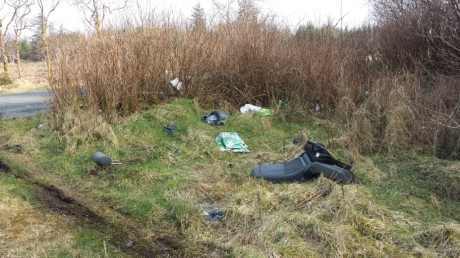 Bags of rubbish and even a carseat have been dumped at Corravaddy (2)