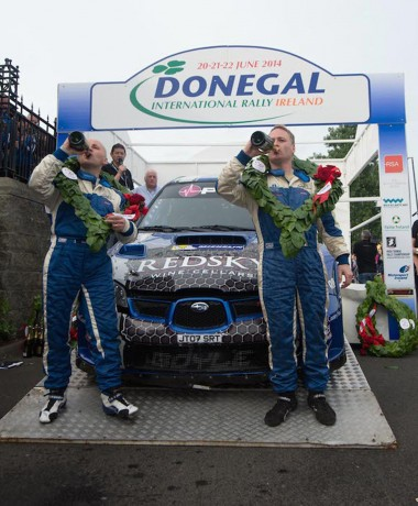 Declan and Brian Boyle winners of the Donegal International Rally 2014