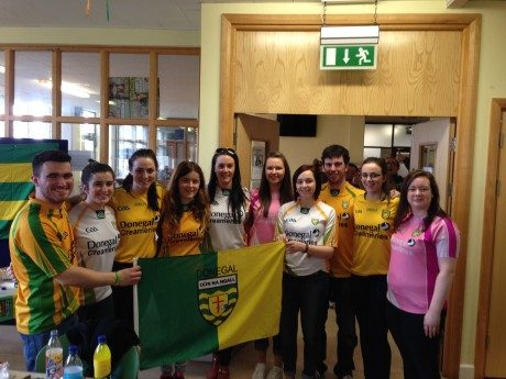 Donegal students at Mater Dei Institute of Education, Drumcondra, Dublin.