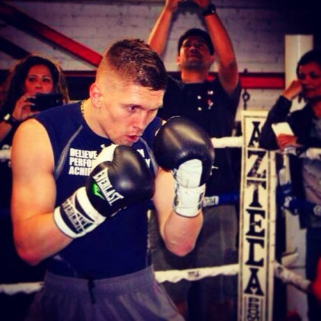 Jason Quigley in training this week.