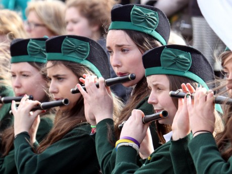 Young flute players with the Annagry band.