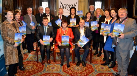 Attendees in Glasgow for the Donegal Tourism Brochure launch.