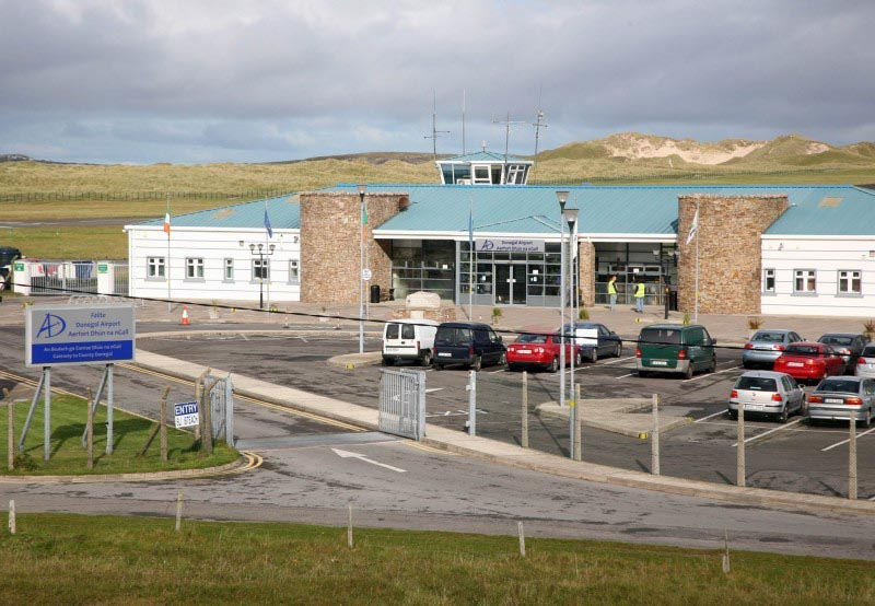 high winds flight cancellations at donegal airport