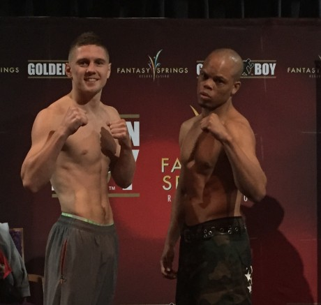 Jason Quigley and his opponent, Joshua Snyder