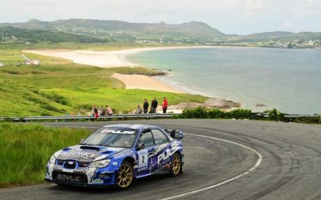 Declan Boyle on his way to winning the 2014 Donegal International Rally.