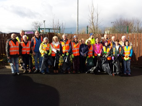 The Buncrana Tidy Towns Groupheading out on Saturday last to embark on the Inishowen clean-up