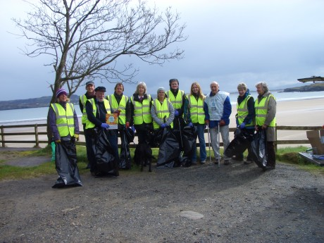 The team that took part in the Marble Hill Clean  Up