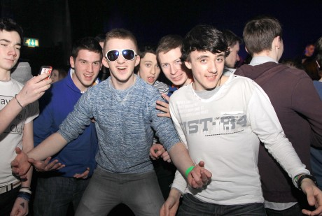 Colaiste na Carraige students enjoying the Beo gig in 2013.