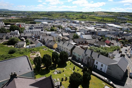Old and new Letterkenny pictured from the church spire.