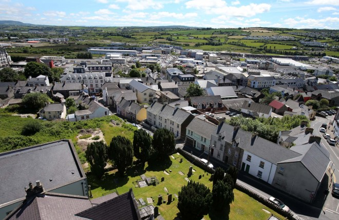 Letterkenny as pictured from the spire of Conwall Parish Church.