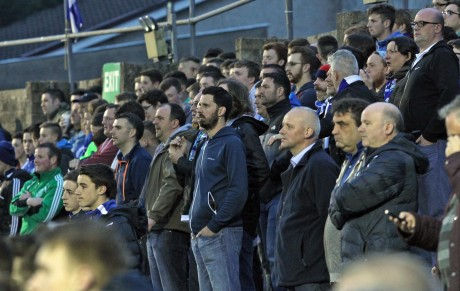 A section of the crowd on the Town End terrace at Finn Park. Photo: Donna El Assaad