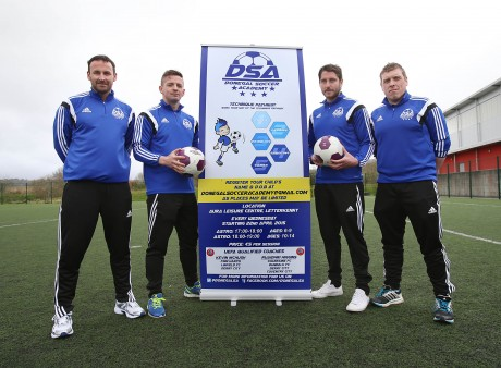 Pictured at the launch are Mel O'Donnell, Kevin McHugh, Ruaidhri Higgins and Andrew Wilson. Photo: Declan Doherty