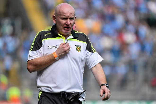 Donegal under 21 manager Declan Bonner