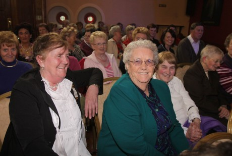 The late Julia O'Donnell at one of Daniel's concerts in Glenfin.